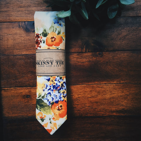 Campbell Skinny Tie - Lord and Lady