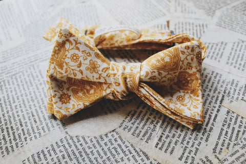 Harvest Gold Bow Tie
