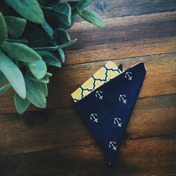 Sailor Pocket Square - Lord and Lady