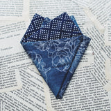 Silver Night Pocket Square