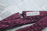 Plum Pin Dot Bow Tie