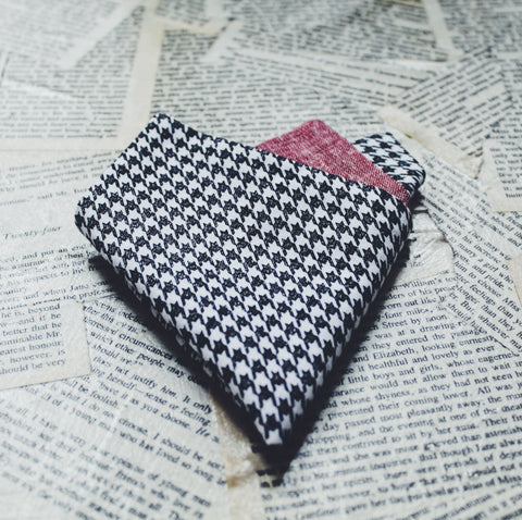 Chambray Houndstooth Pocket Square