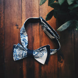 Blue Porcelain Bow Tie - Lord and Lady