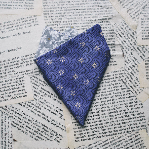 Purple Manderly Pocket Square
