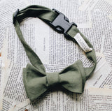 Olive Dapper Dog Bow Tie