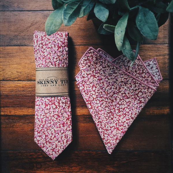 Rose Valley Skinny Tie - Lord and Lady