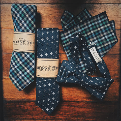 Skye Skinny Tie - Lord and Lady