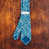 Azure Plaid Skinny Tie - Lord and Lady