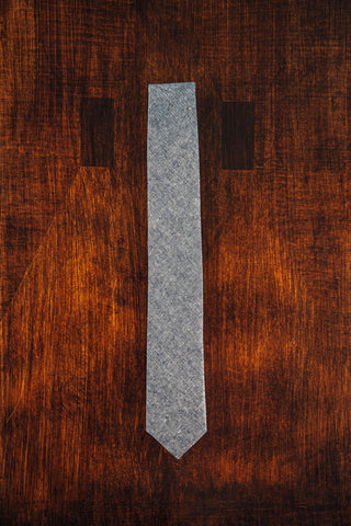 Blue Chambray Skinny Tie - Lord and Lady