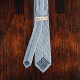 Blue Seersucker Skinny Tie - Lord and Lady