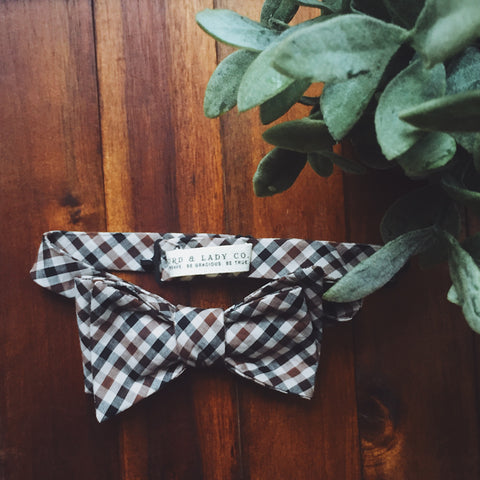 Harvest Plaid Bow Tie