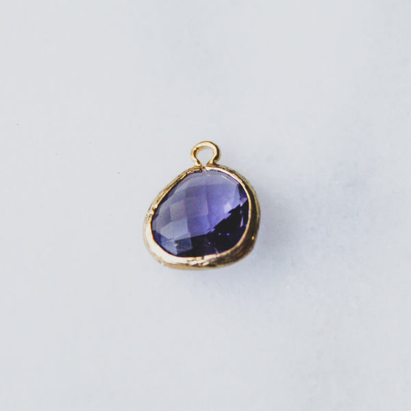 Lavender Crystal Drop - Gold-Framed Glass