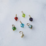 Birthstone Charm - 4mm Swarovski Bicone Drop