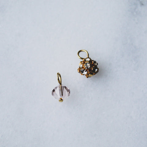 Crystal & Gold Drops
