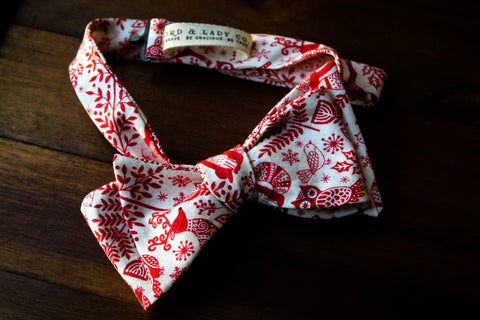 Festive Forest Bow Tie
