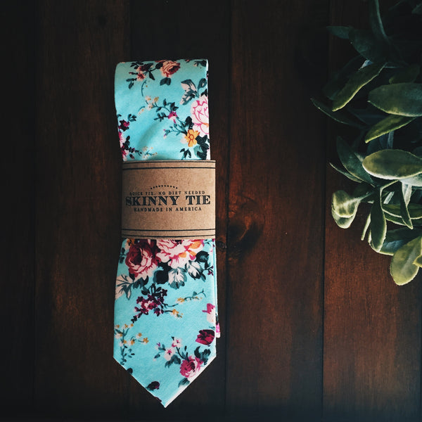 Garden Party Skinny Tie - Lord and Lady