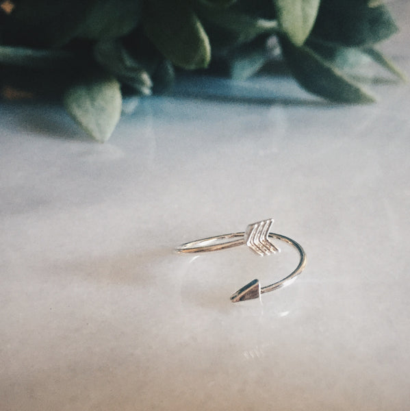 Silver Arrow Ring - Lord and Lady