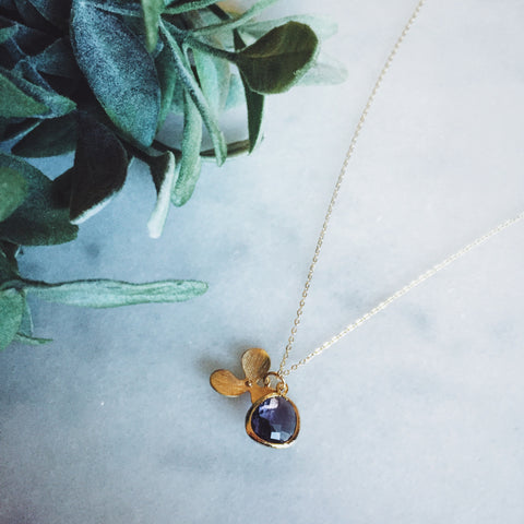 Purple Orchid Necklace - Lord and Lady