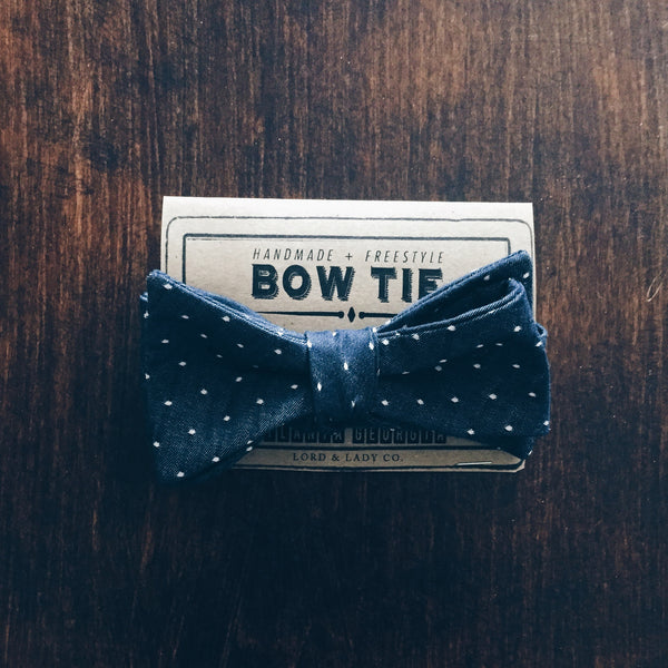 Indigo Dot Bow Tie - Lord and Lady