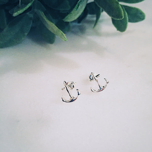 Silver Anchor Earrings - Lord and Lady