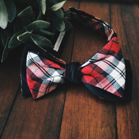 Georgia Plaid Bow Tie