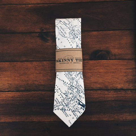 Explorer Skinny Tie - Lord and Lady