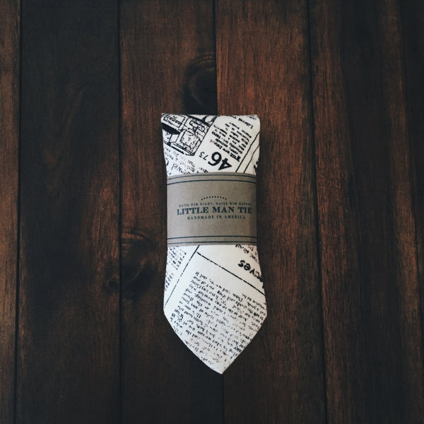 Newsprint Little Man Tie - Lord and Lady