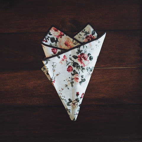 Dapper Rose Pocket Square