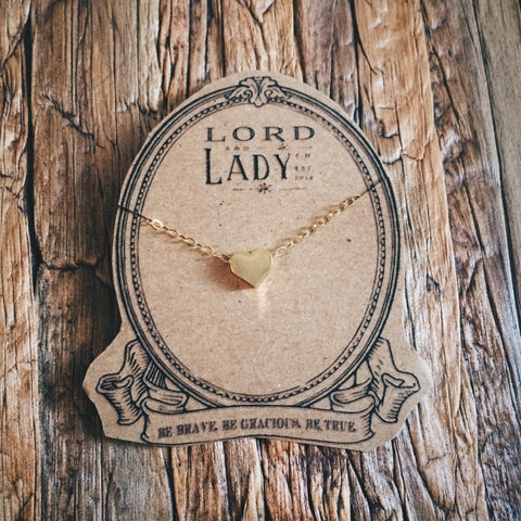 Heart of Gold Necklace - Lord and Lady
