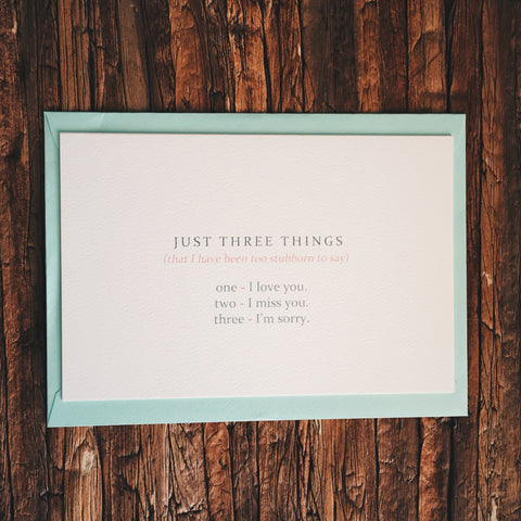 Just Three Things - Lord and Lady