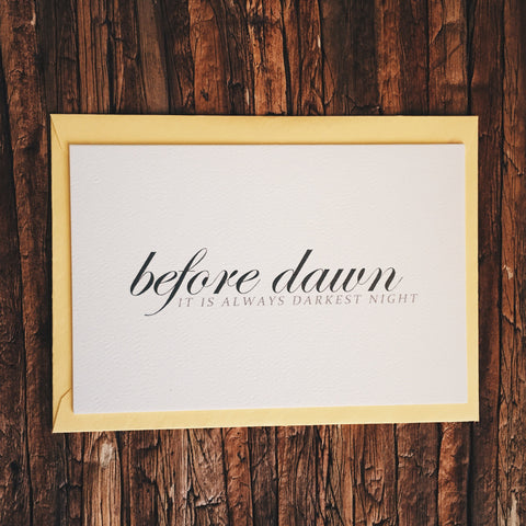 Before Dawn - Lord and Lady