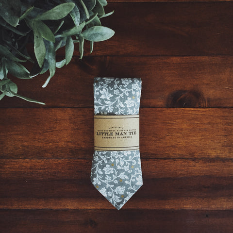 Manderly Grey Little Man Tie - Lord and Lady