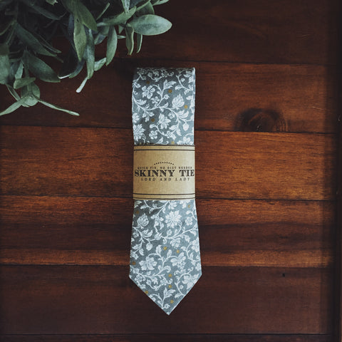 Manderly Grey Skinny Tie - Lord and Lady