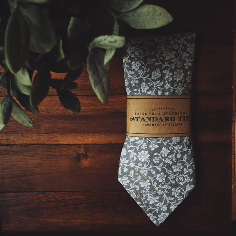 Manderly Grey Standard Tie - Lord and Lady