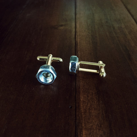 Nuts & Bolts Cuff Links - Lord and Lady