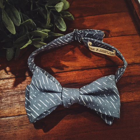 Slate Dash Bow Tie - Lord and Lady