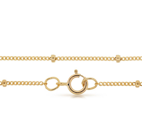 "Dainty Satellite Chain - 14k Gold Filled - 16"" Length"