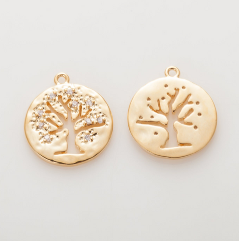 Tree of Life Charm - Create Your Family Tree - Gold - Personalized Gifts