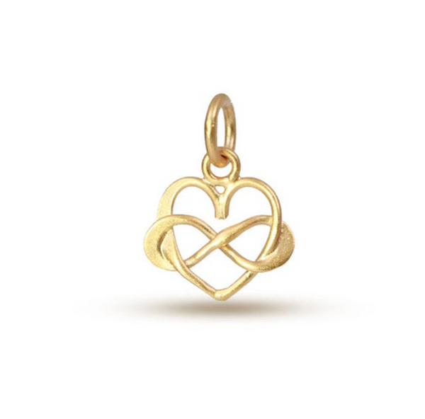 Infinity Heart Charm - 24k Gold Plated
