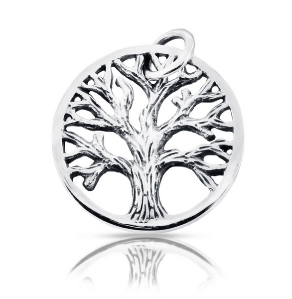 Tree of Life Charm - Family Tree Jewelry - Sterling Silver - Personalized Gifts