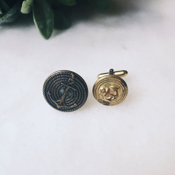 Anchored Cuff Links (One of a Kind) - Lord and Lady
