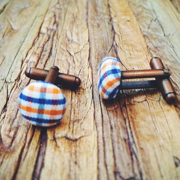Auburn Cuff Links - Lord and Lady