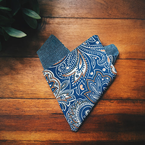 Auburn Paisley Pocket Square - Lord and Lady