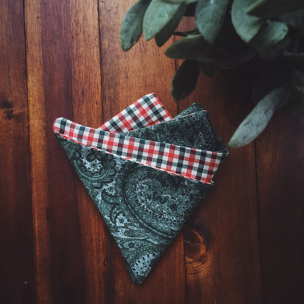 Holiday Plaid Pocket Square - Lord and Lady