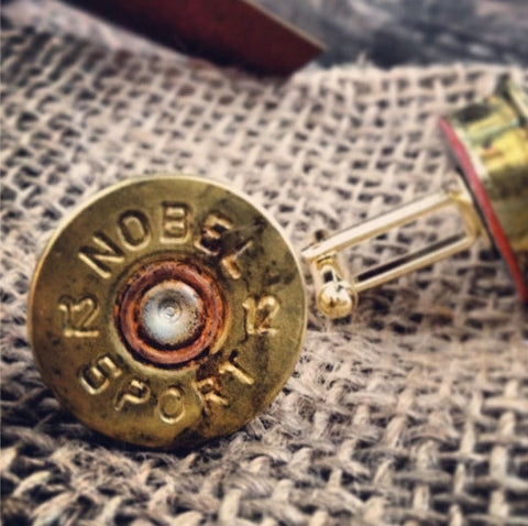 Brass Shotgun Shell Cuff Links