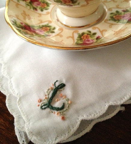 Manderly Hand-Embroidered Handkerchief