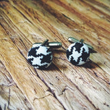 Alabama Houndstooth Cuff Links - Lord and Lady