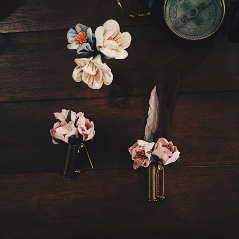 Bullet & Bloom Boutonnière - Lord and Lady