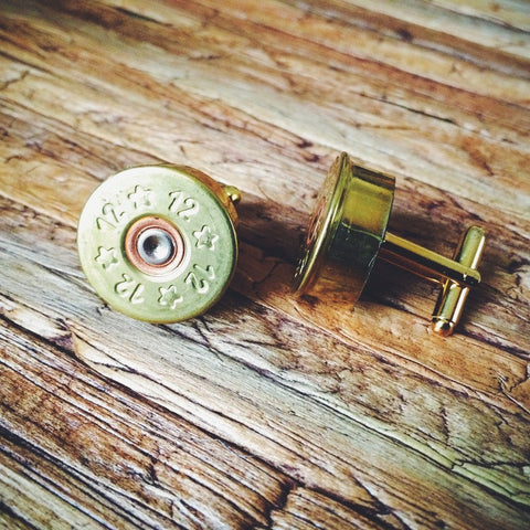 Brass Shotgun Shell Cuff Links - Lord and Lady