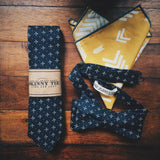 Mustard Arrow Pocket Square - Lord and Lady